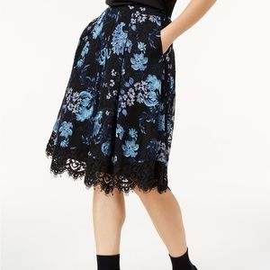 ANTHRO Sachin + Babi Embroidered Floral Skirt